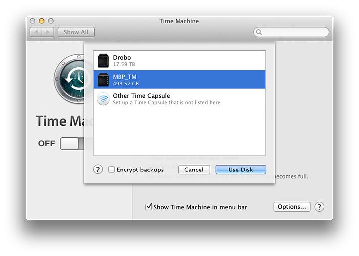 drobo backup software for mac